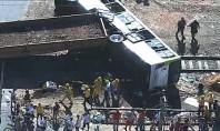Acidente entre trem e ônibus deixa feridos no Rio de Janeiro