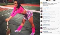 Gracyanne Barbosa troca academia por tênis e posta no Instagram