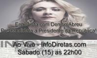 InfoDiretas Entrevista: Denise Abreu fala sobre sua carreira e propostas presidenciais