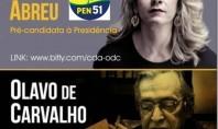 """Denise Abreu recebe Olavo de Carvalho no novo """"Conexão Denise Abreu"""""""