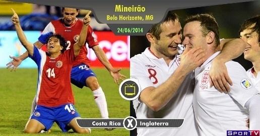 Costa Rica e Inglaterra