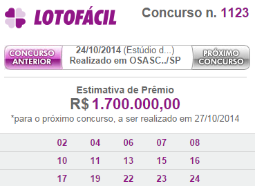 lotofacil 1123