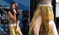 Selena Gomez se descuida e mostra a virilha em show