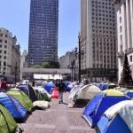 Protesto de moradores de ocupação no Viaduto do Chá
