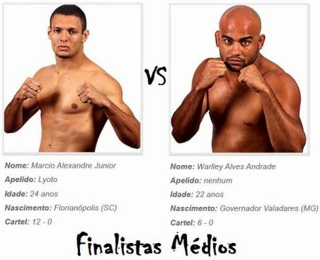 Marcio Alexandre Júnior vs Warlley Alves Andrade, final TUF Brasil 3 Pesos médios