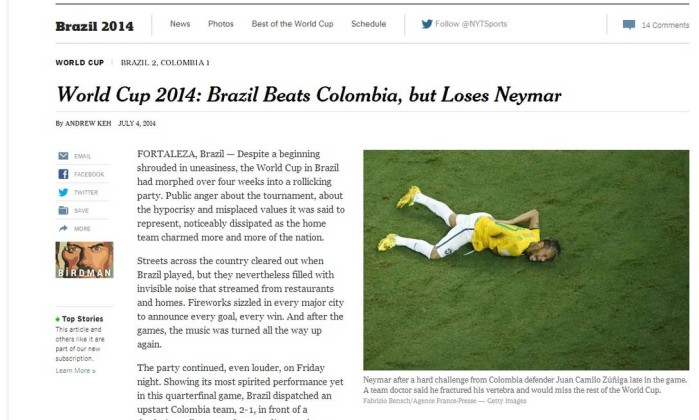 The New York Times - Neymar