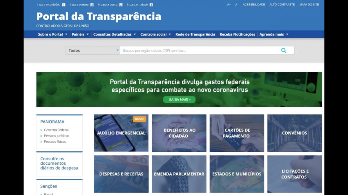 portal transparencia auxilio emergencial